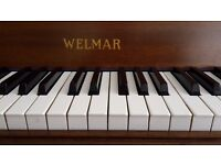 Welmar piano 1970 small only 104cms (41inches) high excellent condition.