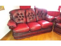 VERY NICE COMFORTABLE 3-SEATER LEATHER SOFA FOR SALE