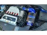 VOLKSWAGEN VW GOLF R32 MK5 FORGE MOTORSPORT INDUCTION INTAKE AIRFILTER KIT BLUE