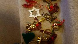 Slection of tree decorations