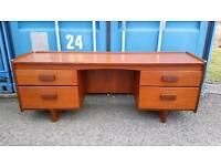 Nice mid-century retro teak Danish Makintosh style desk / dressing table with 4 drawers