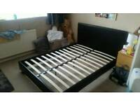 Faux Leather Double Bed Frame Only