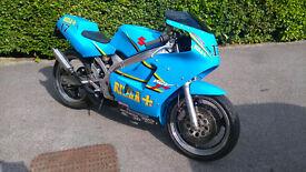 suzuki rgv250 vj21 rizla race replica 1994 mot vgc