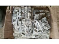 Travertine split face tiles