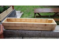 Handcrafted wooden planter