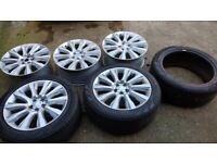 "5x genuine 21"" Range Rover OEM alloy wheels & 3x 275/45R21 tyres"