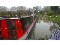 65 ft semi trad narrowboat, ready to live aboard. Aldridge 1991. Completely modled inside and out.