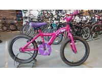 GIRLS APOLLO STAR BIKE 18 INCH WHEELS PINK/PURPLE GOOD CONDITION
