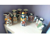 7 TOBY JUGS INCLUDING MR PUNCH