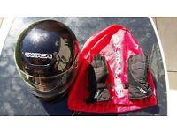 Takachi full face crash helmet
