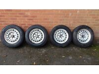 Toyota Hiace wheels (set of 4) with good tyres all round