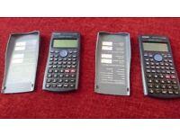 Two Casio scientific calculators fx-83ES
