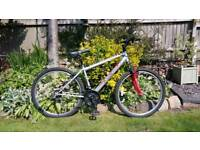 Mountain bike with new tyres