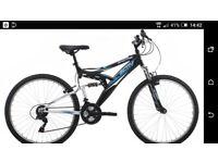 Raleigh Men's Dual Suspension Mountain Bike - Black, 18 Inch