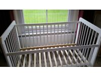 FREE! John Lewis Cot, white-in Good Condition.