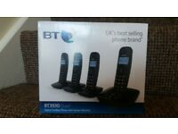 BT quad phone and answering machine