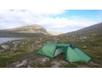Hoolie 2 ETC Wild Country Tent - 3 season, 2 man lightweight tent with large porch area for storage!