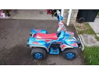 Battery operated kids quad