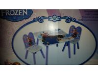 Frozen table and 2 chairs new boxed