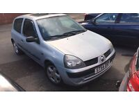 renault clio spares or repair petrol 1.2 54plate low mileage 69k