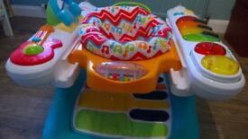 Fisher Price step n play piano bouncer walker activity toy like jumperoo