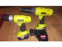 Ryobi twin 14.4V drill combo
