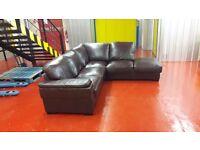 Brown corner sofa **£175 free delivery **