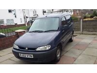 Peugeot Partner van 02 with roof rack, 121000 miles, mot sept,