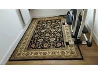 Black and beige rug carpet