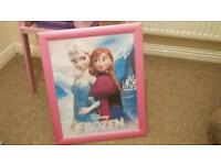 Frozen picture in pink frame