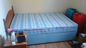 Duvan double bed with matress and headboard