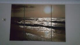 Next metallic seascape canvas XL