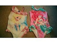 2 Disney Princess swimsuits Age 8-9