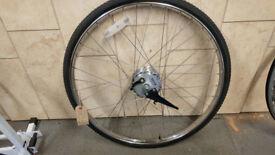 Like New 26 x 1.5 Wheel with Sturmey Archer Dynamo Hub and Drum Brake