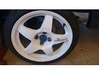 Ford compomotive mo5 alloys with tyres will fit most fords sierra mondeo fiesta focus etc,