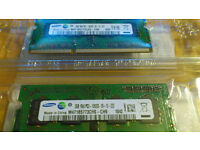 Samsung 4gb (2x2gb) PC3-10600S laptop memory