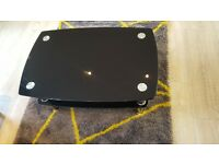 REDUCED IN PRICE - Black glass tinted coffee table