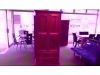 GREAT CONDITION!! 2 door pine tallboy/wardrobe as new with 2 large drawers
