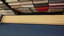 Skirting Boards Only £6 each - Light Oak shade - 2.4m Long - Great Value! For fitting Laminate Floor