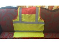Red And Yellow Hi Vis Vest Waistcoat Safety
