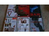 6 Saw ... hostel dvds