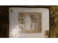 WHITE DOUBLE TERRY TOWELLING MATTRESS PROTECTOR - BRAND NEW IN PACKET