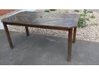 Garden table - large solid wood