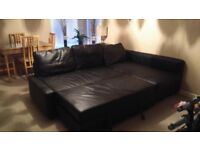 Corner bed settee with storage