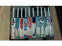 CRICKET BATS FOR SELL. ALL BRANDS AVAILABLE @ VERY REASONABLE PRICE. 46 TO 50MM THICK EDGE,T-20 BATS