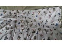 Curtains Perfect condition - unused with tie-backs & tabs for curtain rod 100% cotton IKEA brand