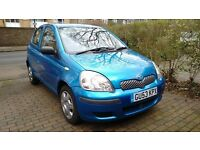 Toyota Yaris 1.0L T3 VVT-i Manual, 2003, metallic blue, 73500 miles, 1 year MOT