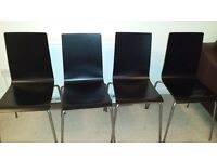 4 black IKEA dining chairs for sale