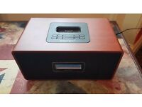 Intempo Retro Wooden DAB Radio with iPod Dock (Remote control not included)