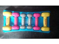 Dumbell set for home and gym classes